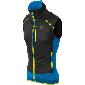 Karpos Alagna Plus Evo Vest Men, black/indigo bunting/yellow fluo